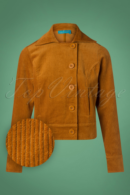 Women's 70s Shirts, Blouses, Hippie Tops 70s Lori Corduroy Jacket in Bronze £87.52 AT vintagedancer.com