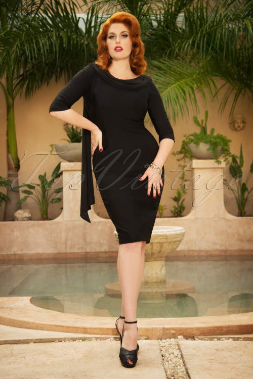 Vintage Diva May Pencil Dress in Back  26370 20180613 0009W