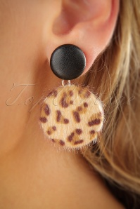 Vixen Leopard Button Earrings 333 79 25710 07122018 002W