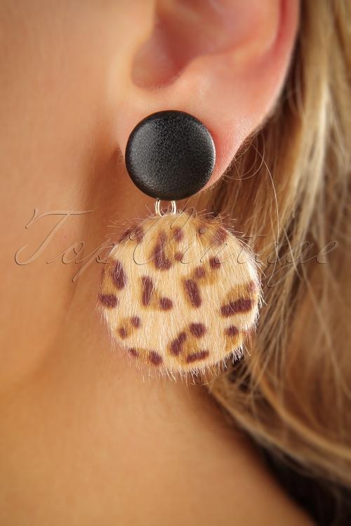 Vixen Leopard Button Earrings 333 79 25710 07122018 002W