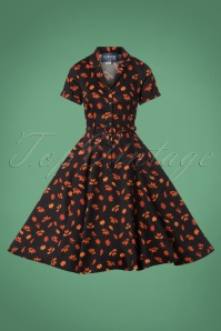 Collectif Clothing 50s Caterina Acorn Swing Dress 102 14 24827 20180906 0015W