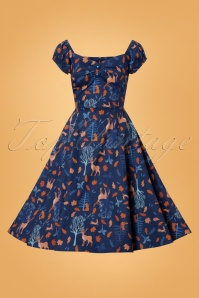 Collectif Clothing Dolores Forest Friends Swing Dress 24825 20180627 0003W