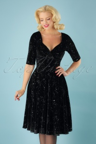 Trixie Make A Wish Doll Dress Années 50 en Noir