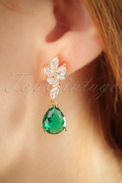 Vixen Elegant Emerald Earrings 333 91 25715 07122018 002W