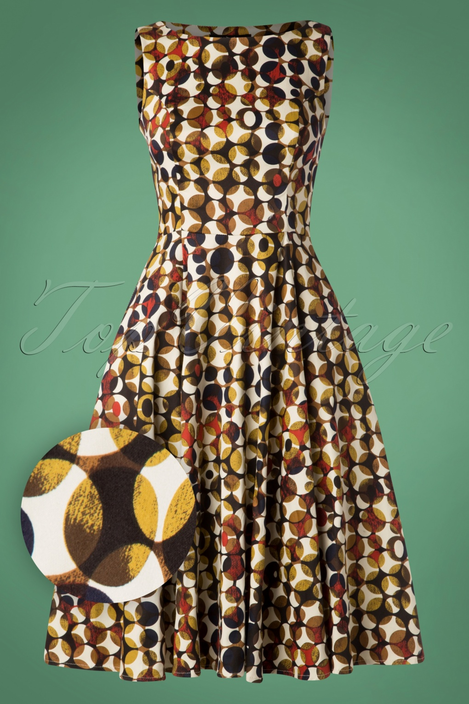 1960s Dresses | 60s Dresses Mod, Mini, Jakie O, Hippie 50s Audrey Swing Dress in Cream £48.28 AT vintagedancer.com