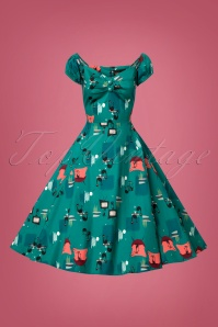 Collectif Clothing Dolores Atomic Cat Doll Dress 102 39 24810 20180626 0001W