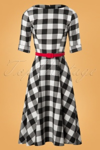 Collectif Clothing Suzanne Gingham Black and White Swing Dress 102 14 24812 20180627 0014W