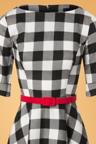 Collectif Clothing Suzanne Gingham Black and White Swing Dress 102 14 24812 20180627 0014V