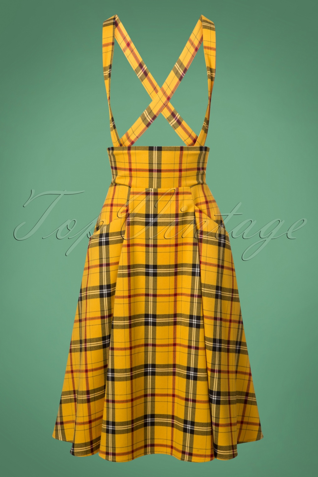 1950s Swing Skirt, Poodle Skirt, Pencil Skirts 50s Alexa Clueless Check Swing Skirt in Yellow £51.90 AT vintagedancer.com