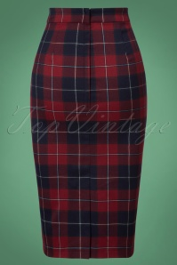 Collectif Clothing Polly Ginsburg Check Pencil Skirt 120 39 25632 20180625 0005W