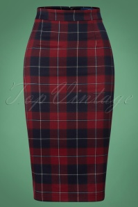 Collectif Clothing Polly Ginsburg Check Pencil Skirt 120 39 25632 20180625 0003W