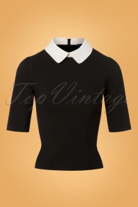 Collectif Clothing Winona Top in Black and white 110 10 24862 20180626 0003W