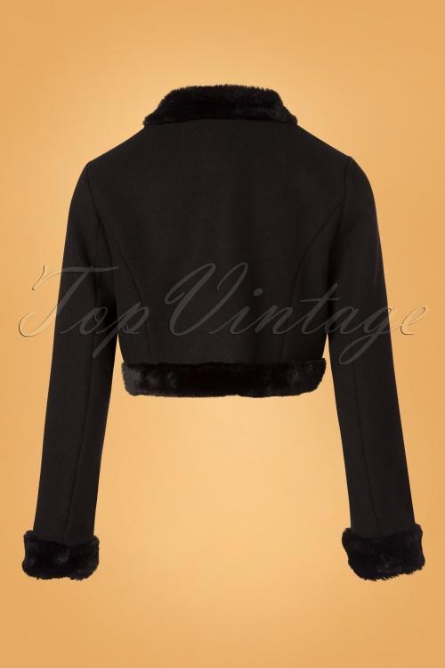 50s Marcia Bolero Jacket In Black