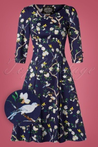 Hearts and Roses Purple Floral Swing Dress 102 69 26957 20181001 0006W1