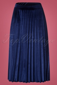 Hearts and Roses Blue Velvet Skirt 123 30 26962 20181001 0002W