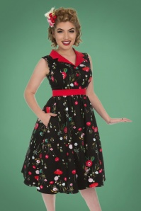 Hearts and Roses Black and Red Swing Dress 102 14 26952 20181001 0011