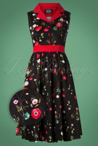Hearts and Roses Black and Red Swing Dress 102 14 26952 20181001 0009Z