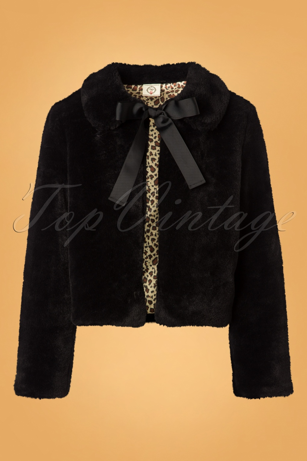 1950s Jackets, Coats, Bolero | Swing, Pin Up, Rockabilly 50s Rock n Roll Swing Fur Jacket in Black £45.42 AT vintagedancer.com