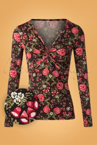 Blutsgeschwister Tour D'amour Floral Top 113 14 26038 20181003 0002W1
