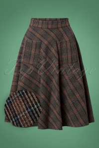 Banned Claire Check Skirt in Brown 26210 20180718 0004W1
