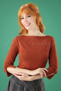 50s Oonagh Top in Brown