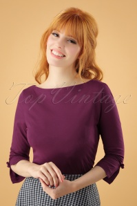 50s Oonagh Top in Grape