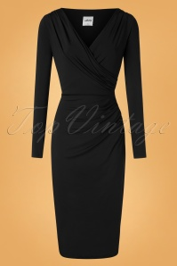 50s Benot Pencil Dress in Black