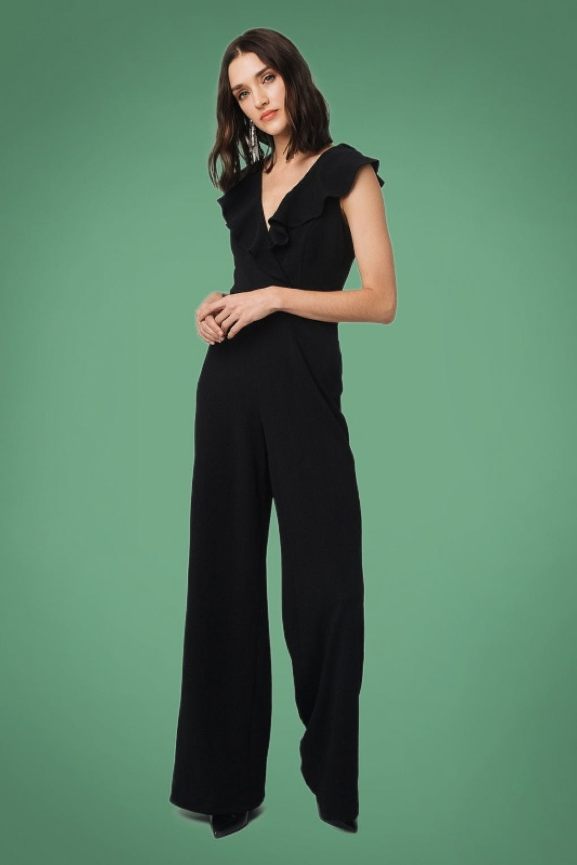 60s – 70s Pants, Jeans, Hippie, Bell Bottoms, Jumpsuits 70s Venceslada Jumpsuit in Black £79.30 AT vintagedancer.com