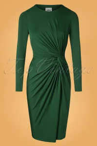 50s Benot Pencil Dress in Green