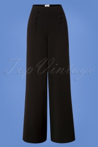 40s Munt Trousers in Black