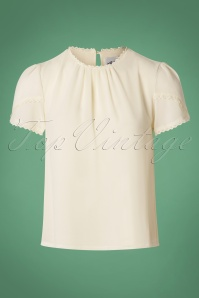 40s Febrer Top in Off White