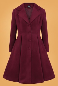 Hearts and Roses Winter Coat in Wine Red 152 20 26963 3
