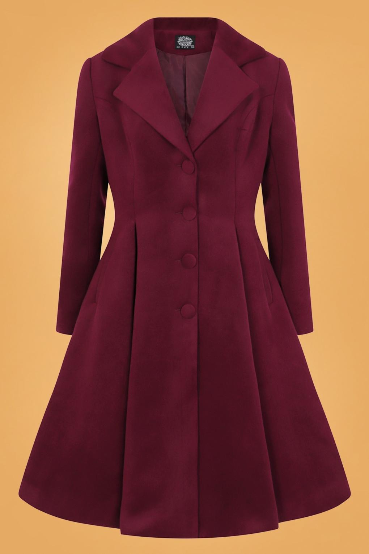 Vintage Coats & Jackets | Retro Coats and Jackets 50s Lauren Swing Coat in Wine Red £96.40 AT vintagedancer.com