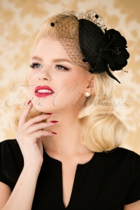 40s Gigi Fascinator in Black