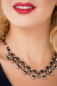 Louche Tegan Navy Necklace 300 91 25868 10042018 022W