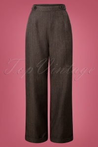 40s Secretary Trousers in Charcoal