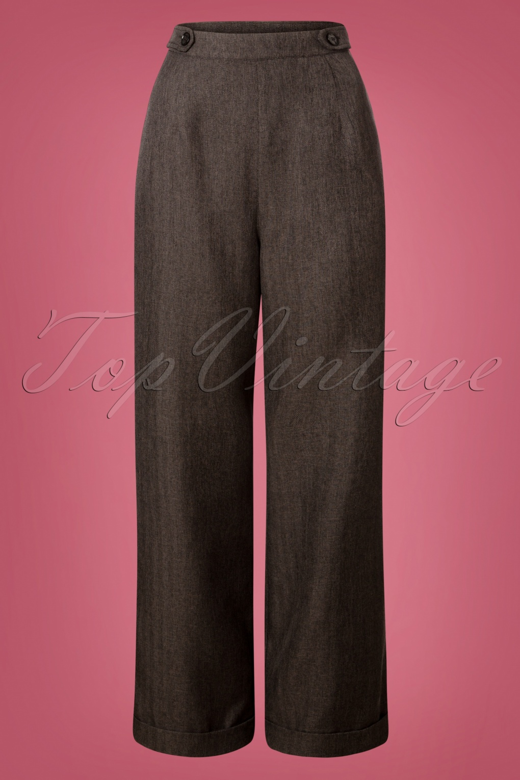 1940s Swing Pants & Sailor Trousers- Wide Leg, High Waist 40s Secretary Trousers in Charcoal £32.34 AT vintagedancer.com