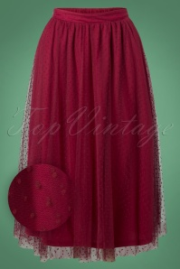 Banned Timea Tule Skirt in Burgundy 26216 20180718 0004W1