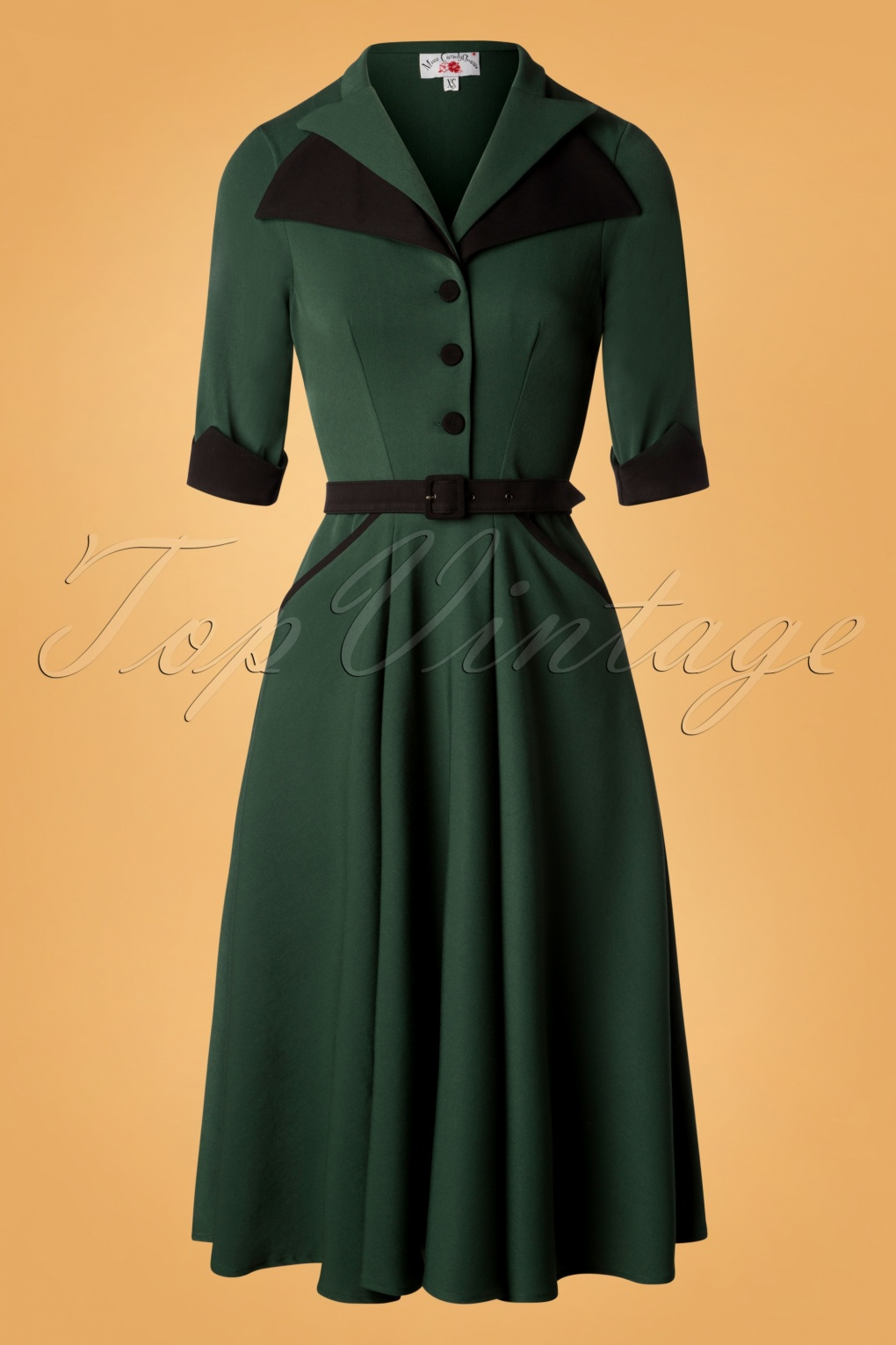 1940s Dresses | 40s Dress, Swing Dress TopVintage exclusive  40s Juliette Swing Dress in Green £100.79 AT vintagedancer.com