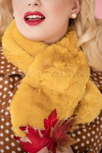 Louche Gillams Faux Fur scarf Yellow 240 80 25886 10042018 036W