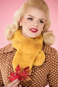 Louche Gillams Faux Fur scarf Yellow 240 80 25886 10042018 024W