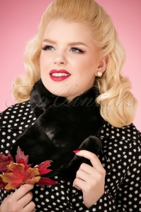 Louche Gillams Faux Fur scarf Black 240 10 25885 10042018 056W