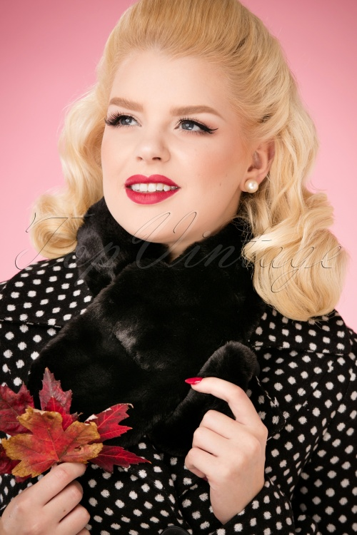 Louche Gillams Faux Fur scarf Black 240 10 25885 10042018 056W