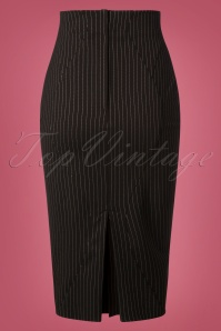 Miss Candyfloss Black Pin Stripe Skirt 120 10 26321 20181008 0282W