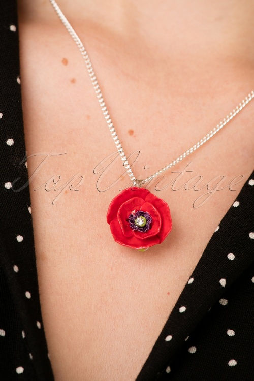 Hop Skip & Flutter Porcelain Poppy Necklace 300 20 26514 10042018 020W