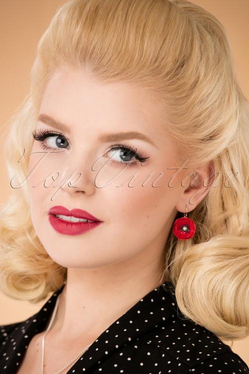 Hop Skip & Flutter Porcelain Poppy Earrings 333 20 26513 10042018 006W