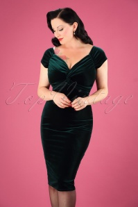Vintage Chic Velvet 50s Glenda Dress 100 40 26401 5W