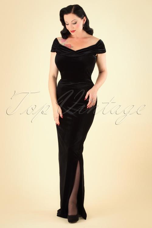 Vintage Chic Velvet Maxi Dress 27647 5W