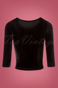 Collectif Clothing Twinnie Velvet Black Top 110 10 24854 20180626 0010W