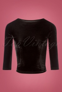 Collectif Clothing Twinnie Velvet Black Top 110 10 24854 20180626 0004W